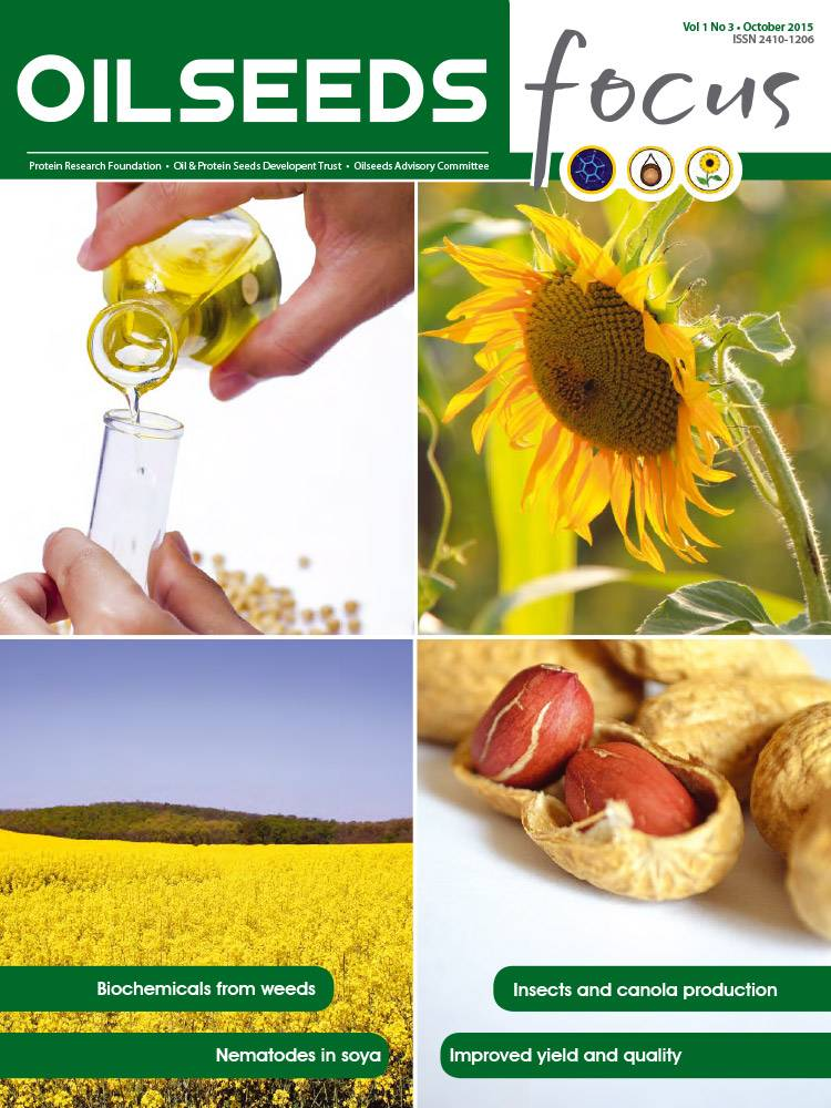 Cover of Oilseeds Focus Oilseeds Focus Vol 1 No 3 - October 2015