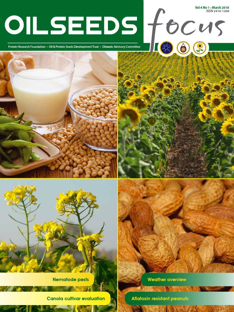 Cover of Oilseeds Focus Vol 4 No 1 – March 2018