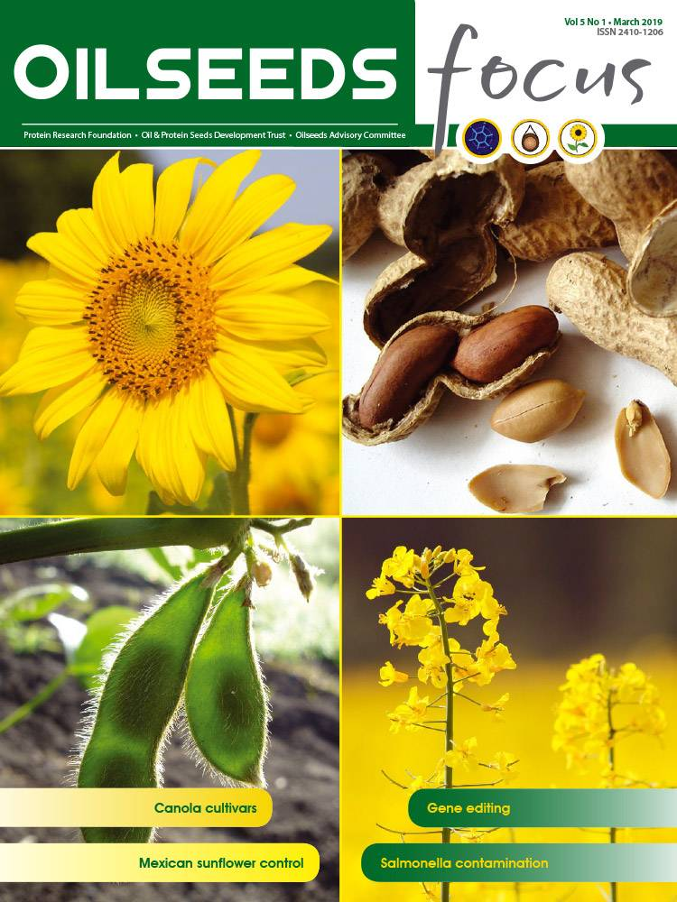 Cover of Oilseeds Focus Oilseeds Focus Vol 5 No 1 - March 2019